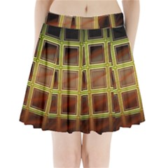 Drawing Of A Color Fractal Window Pleated Mini Skirt