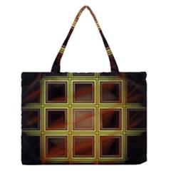 Drawing Of A Color Fractal Window Medium Zipper Tote Bag