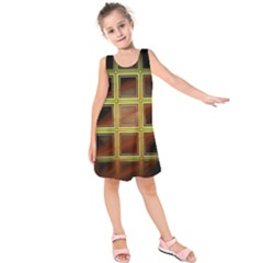 Drawing Of A Color Fractal Window Kids  Sleeveless Dress