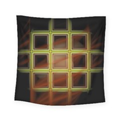 Drawing Of A Color Fractal Window Square Tapestry (small)