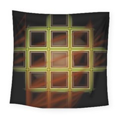 Drawing Of A Color Fractal Window Square Tapestry (large)