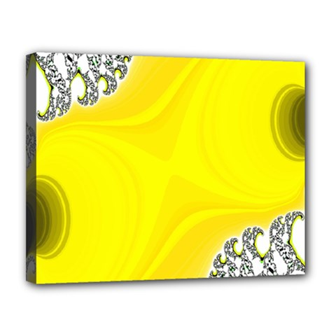 Fractal Abstract Background Canvas 14  X 11