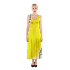 Fractal Abstract Background Sleeveless Maxi Dress