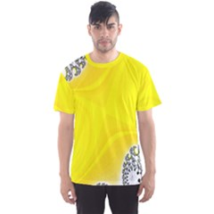 Fractal Abstract Background Men s Sport Mesh Tee