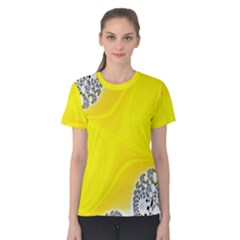 Fractal Abstract Background Women s Cotton Tee