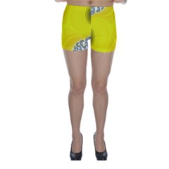 Fractal Abstract Background Skinny Shorts