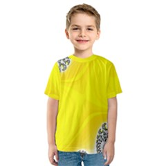 Fractal Abstract Background Kids  Sport Mesh Tee