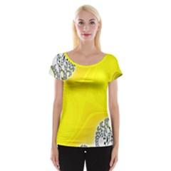 Fractal Abstract Background Women s Cap Sleeve Top