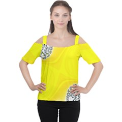Fractal Abstract Background Women s Cutout Shoulder Tee