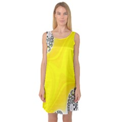 Fractal Abstract Background Sleeveless Satin Nightdress