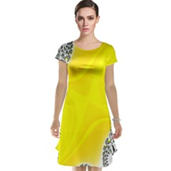 Fractal Abstract Background Cap Sleeve Nightdress