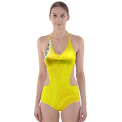 Fractal Abstract Background Cut-Out One Piece Swimsuit