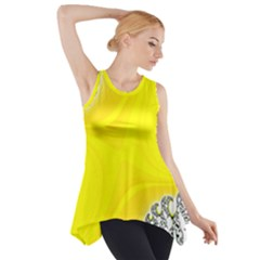 Fractal Abstract Background Side Drop Tank Tunic