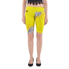 Fractal Abstract Background Yoga Cropped Leggings
