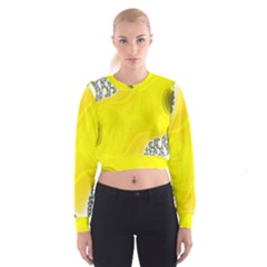 Fractal Abstract Background Women s Cropped Sweatshirt