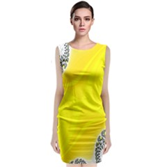 Fractal Abstract Background Classic Sleeveless Midi Dress