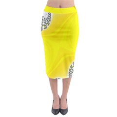 Fractal Abstract Background Midi Pencil Skirt
