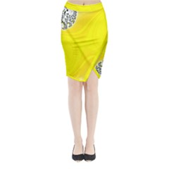 Fractal Abstract Background Midi Wrap Pencil Skirt