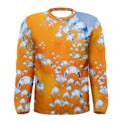 Bubbles Background Men s Long Sleeve Tee