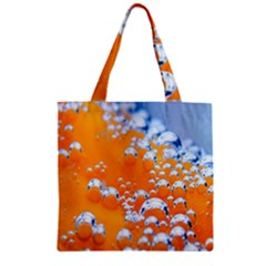 Bubbles Background Zipper Grocery Tote Bag