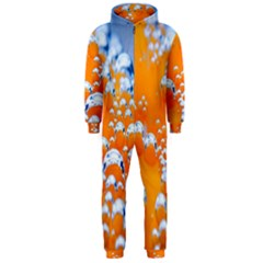 Bubbles Background Hooded Jumpsuit (men)