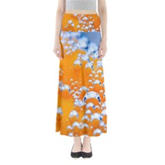 Bubbles Background Maxi Skirts