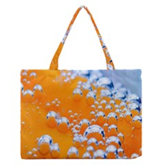 Bubbles Background Medium Zipper Tote Bag