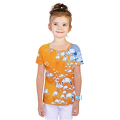 Bubbles Background Kids  One Piece Tee
