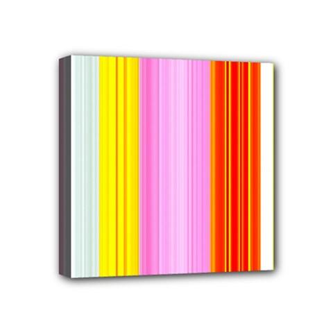 Multi Colored Bright Stripes Striped Background Wallpaper Mini Canvas 4  X 4