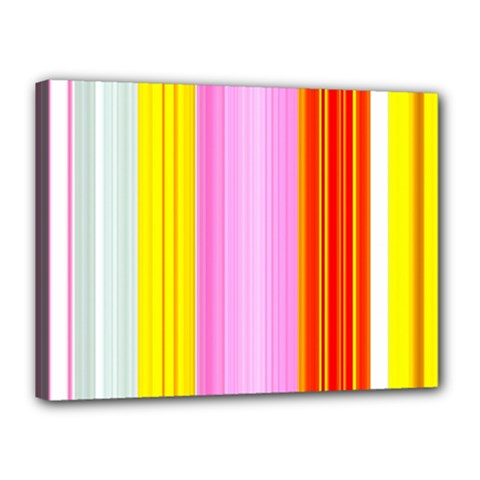 Multi Colored Bright Stripes Striped Background Wallpaper Canvas 16  X 12