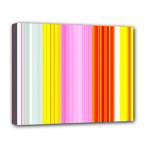 Multi Colored Bright Stripes Striped Background Wallpaper Deluxe Canvas 20  X 16