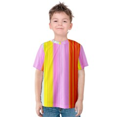 Multi Colored Bright Stripes Striped Background Wallpaper Kids  Cotton Tee