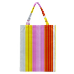 Multi Colored Bright Stripes Striped Background Wallpaper Classic Tote Bag
