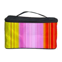 Multi Colored Bright Stripes Striped Background Wallpaper Cosmetic Storage Case