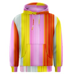 Multi Colored Bright Stripes Striped Background Wallpaper Men s Pullover Hoodie