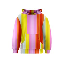 Multi Colored Bright Stripes Striped Background Wallpaper Kids  Pullover Hoodie