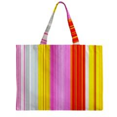 Multi Colored Bright Stripes Striped Background Wallpaper Zipper Mini Tote Bag