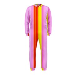 Multi Colored Bright Stripes Striped Background Wallpaper Onepiece Jumpsuit (kids)