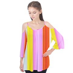 Multi Colored Bright Stripes Striped Background Wallpaper Flutter Tees