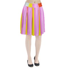 Multi Colored Bright Stripes Striped Background Wallpaper Pleated Skirt