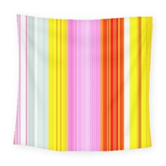 Multi Colored Bright Stripes Striped Background Wallpaper Square Tapestry (large)