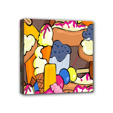 Sweet Stuff Digitally Created Sweet Food Wallpaper Mini Canvas 4  X 4
