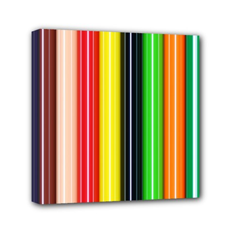Colorful Striped Background Wallpaper Pattern Mini Canvas 6  X 6