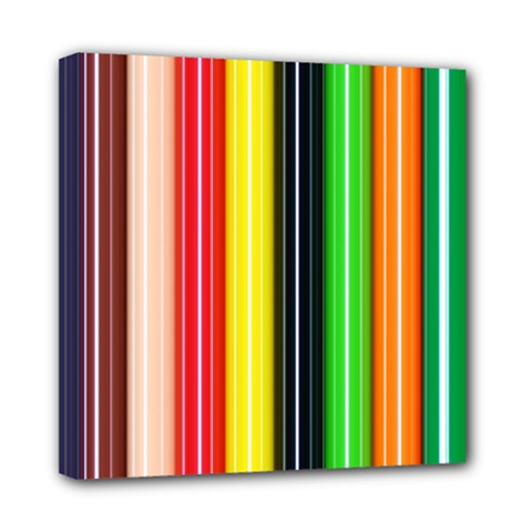 Colorful Striped Background Wallpaper Pattern Mini Canvas 8  X 8