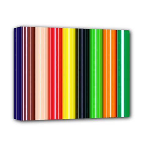 Colorful Striped Background Wallpaper Pattern Deluxe Canvas 14  x 11