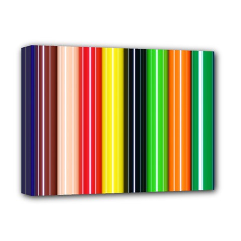 Colorful Striped Background Wallpaper Pattern Deluxe Canvas 16  X 12