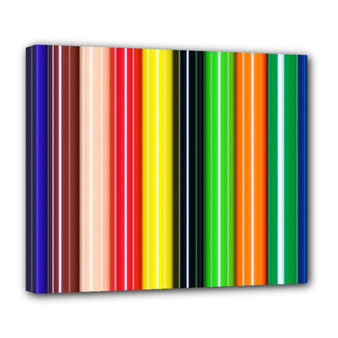 Colorful Striped Background Wallpaper Pattern Deluxe Canvas 24  X 20