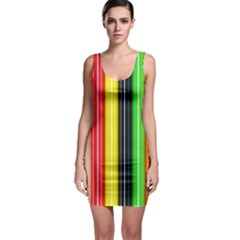 Colorful Striped Background Wallpaper Pattern Sleeveless Bodycon Dress