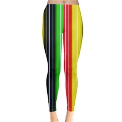 Colorful Striped Background Wallpaper Pattern Leggings