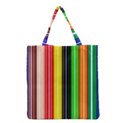 Colorful Striped Background Wallpaper Pattern Grocery Tote Bag